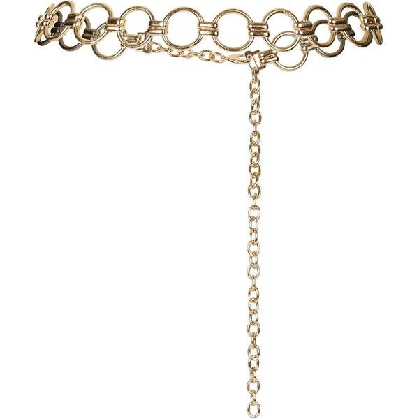 TopShop Metal Link Belt ($23) Liked On Polyvore Featuring