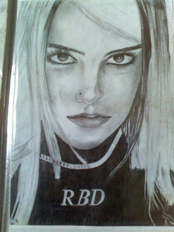 Dulce Maria Roberta Rbd 6b Sobre Canson A3 Desenhado Por
