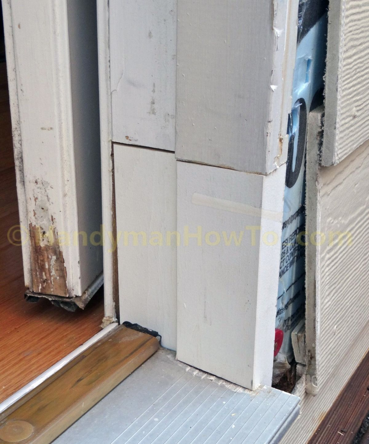 Rotted Exterior Door Frame Fitting Splice Repair Section Home