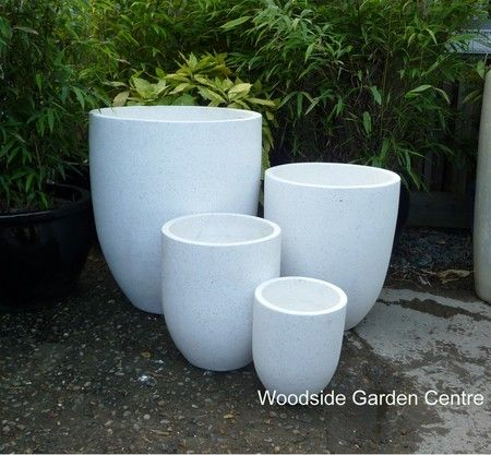 Large White Terrazzo Tall U Pot Planters Woodside Garden Centre Pots To Inspire