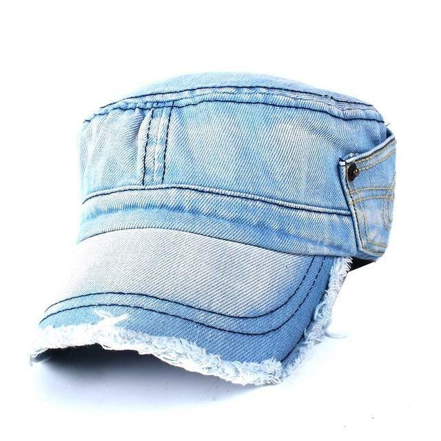 654096232e0 Difanni 2018 New Jeans Cap Men Women Snapback Military Denim Caps Hats  Solid Gorras Casquette Chapeu Hat For Men Women