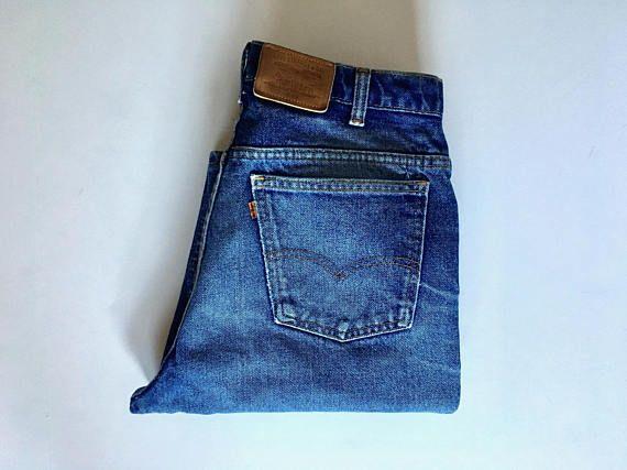 Vintage Men S 70 S Levi S 619 Orange Tab Jeans Levi Fashion Vintage Men