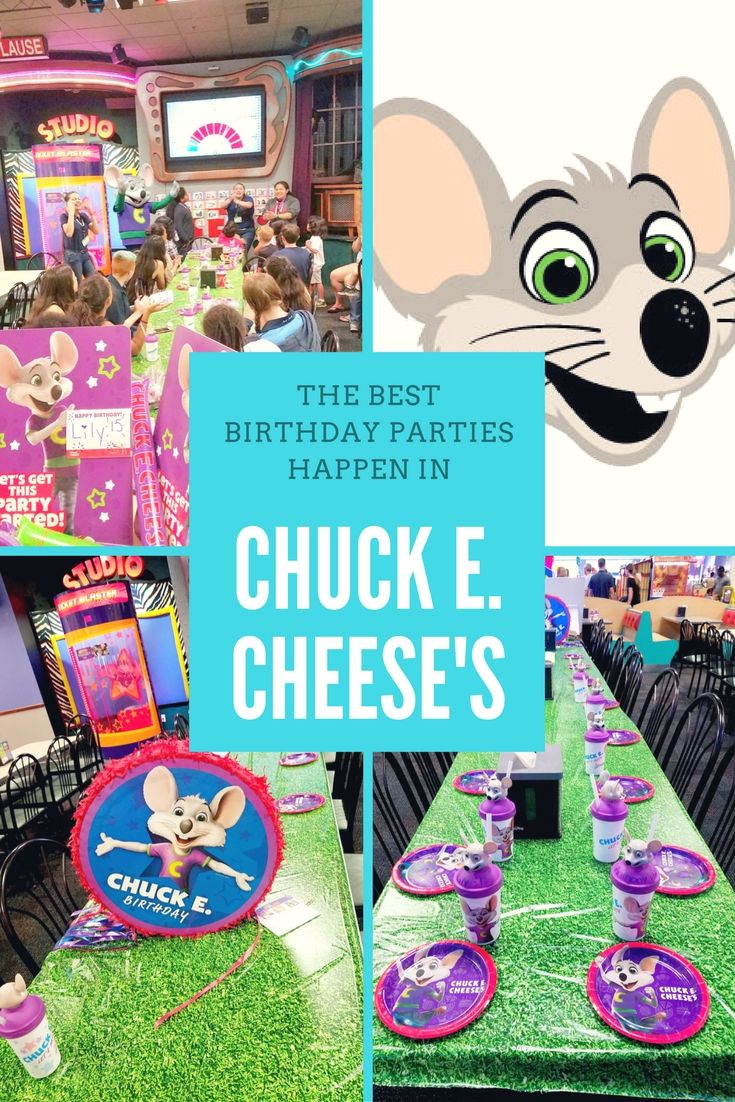 The Best Birthday Parties Happen in Chuck E Cheese From age 0 to