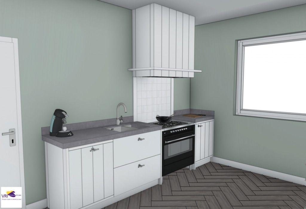 Moderne Keuken Kleuren : Landelijke moderne keuken met fornuis in 3d ontwerp: monique van
