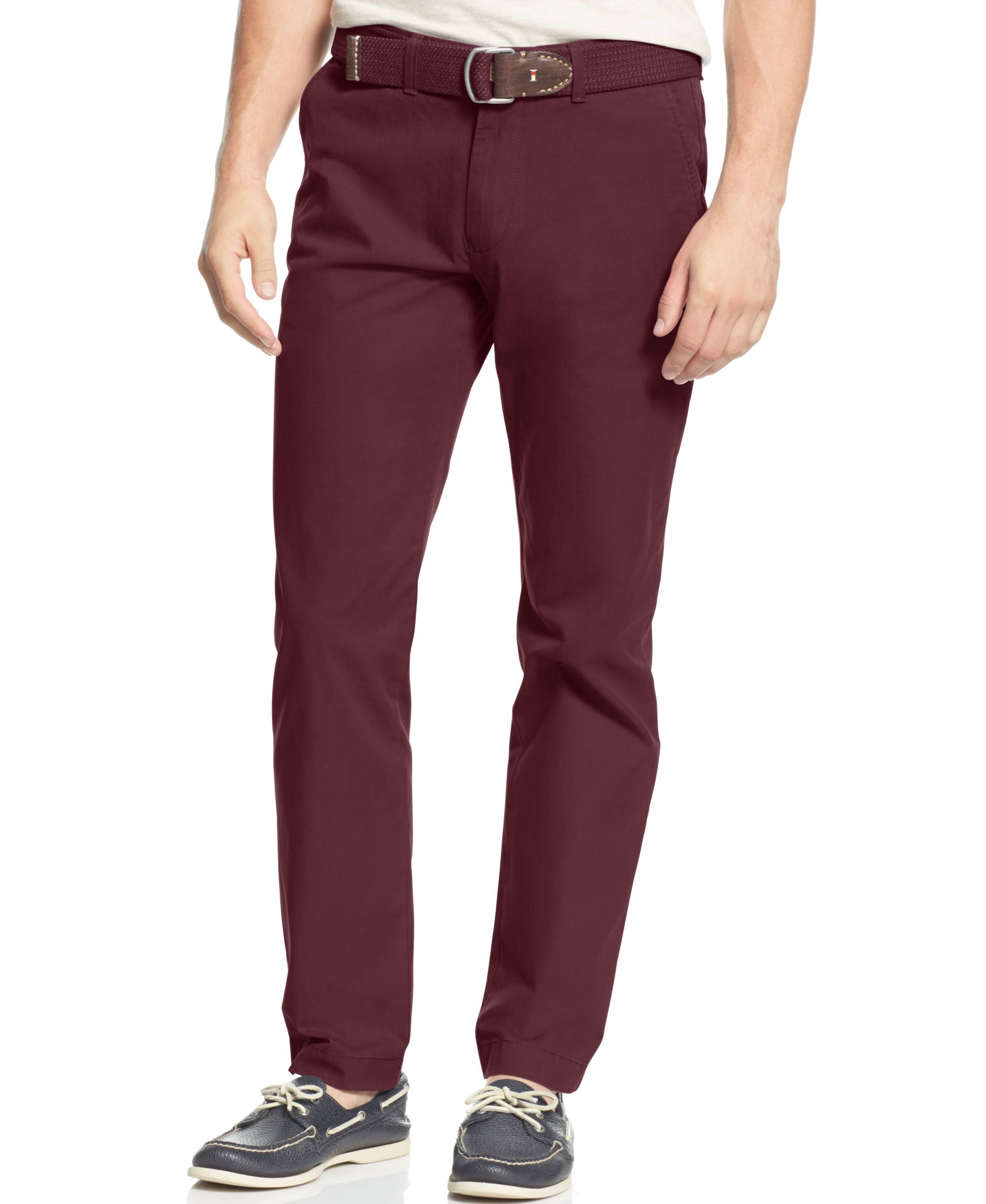 ee250b6ca Tommy Hilfiger Tailored-Fit Chino Pants Tommy Hilfiger Chinos