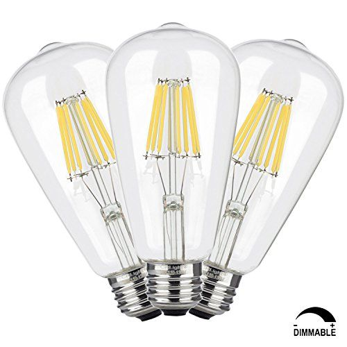 crlight 8w dimmable edison style vintage led filament light bulb 4000k daylight neutral white. Black Bedroom Furniture Sets. Home Design Ideas