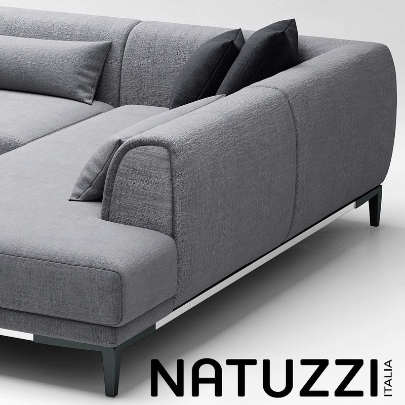 3d Sofa Natuzzi Trevi Model Corner Sofa Design Living Room Sofa