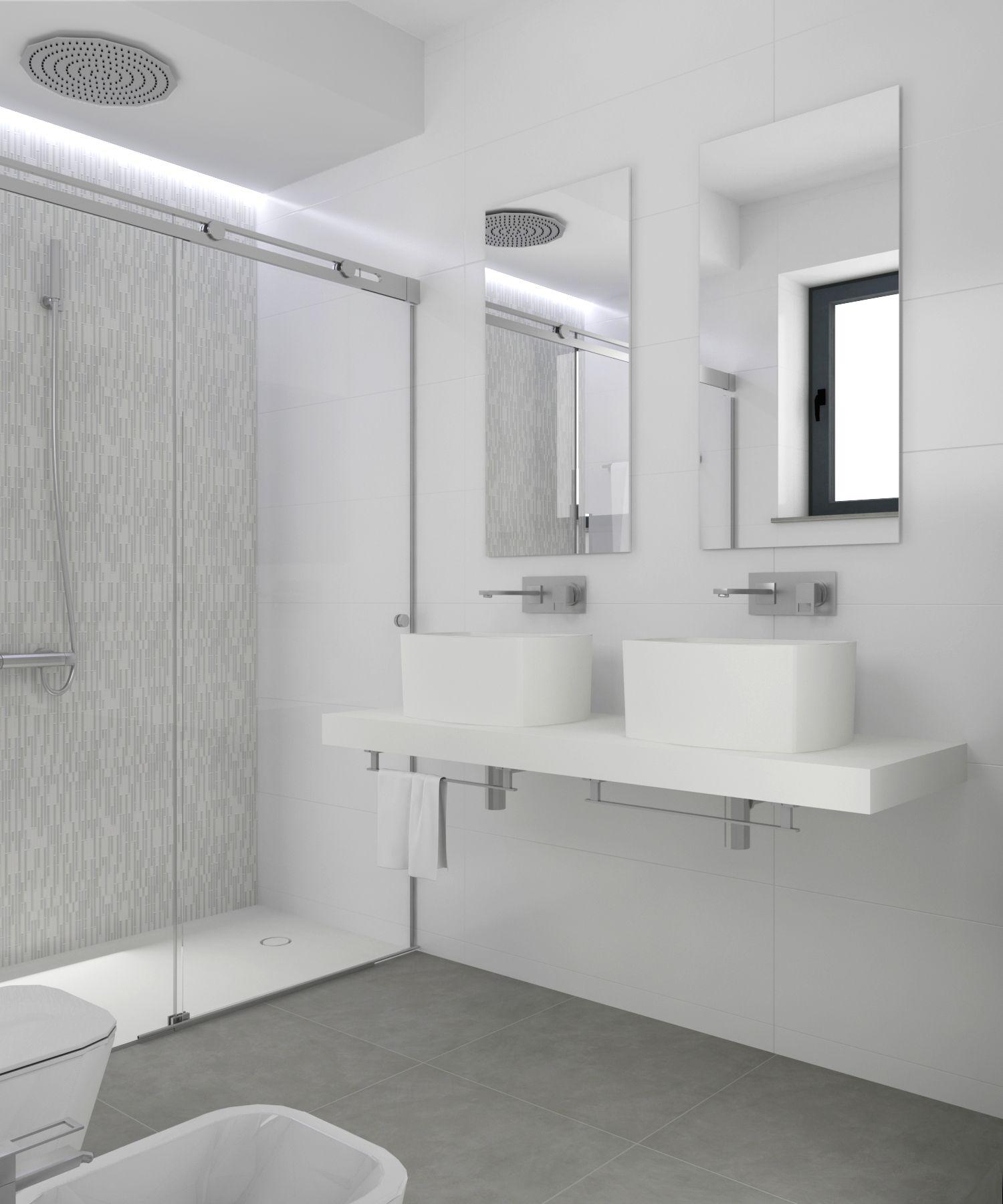 Baño diseñado por Fábrica de Arquitectura para una vivienda ...