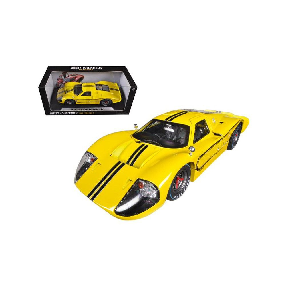 Ford Gt Mk Iv Yellow  Cast Car Model By Shelby Collectibles