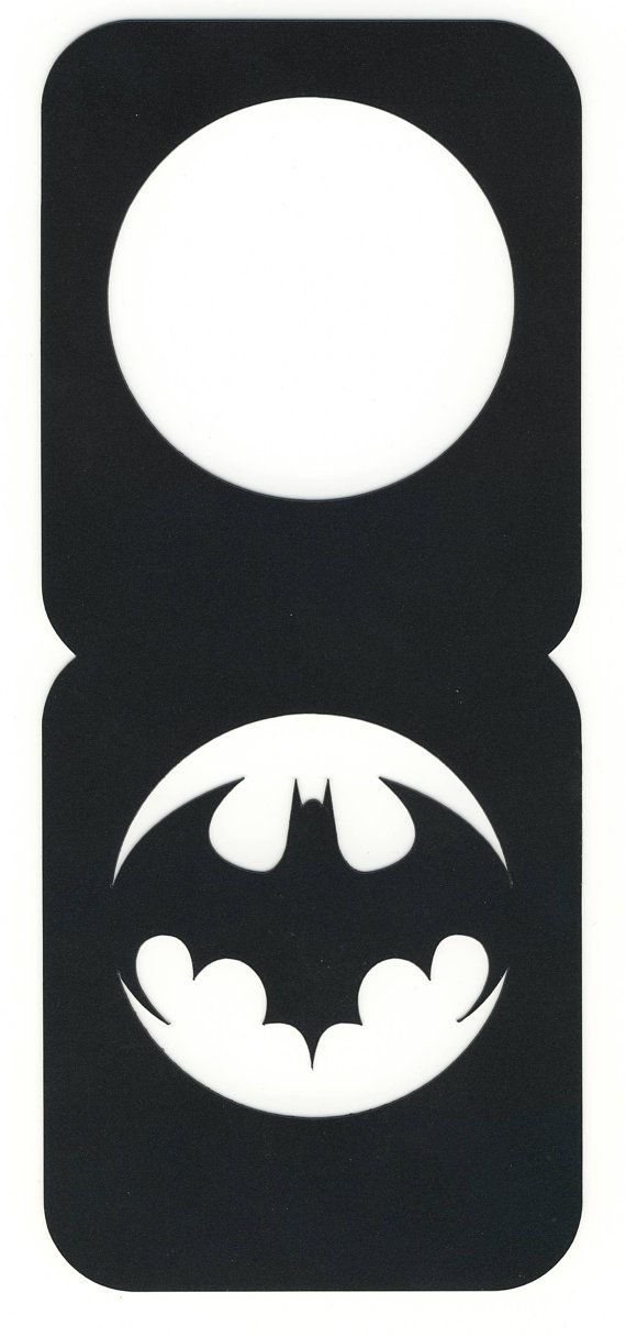 Batman Bat Sign Door Hanger Do Not Disturb By Contourdsigns