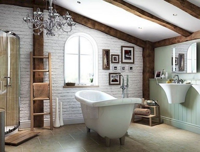 73 Marvelous Farmhouse Master Bathroom Decor Ideas And Remodel Country Style Bathrooms Modern Country Bathrooms Modern Farmhouse Bathroom
