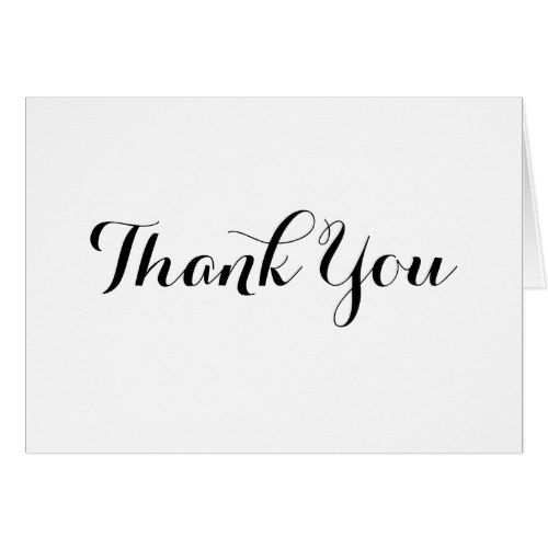 Black Calligraphy Thank You Note Card Template Zazzle Com Calligraphy Thank You Note Card Template Thank You Note Cards