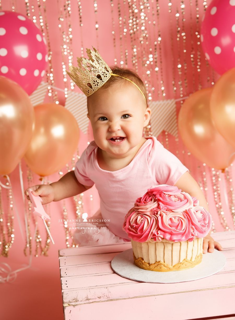K is one! Northern California Cake smash photographer