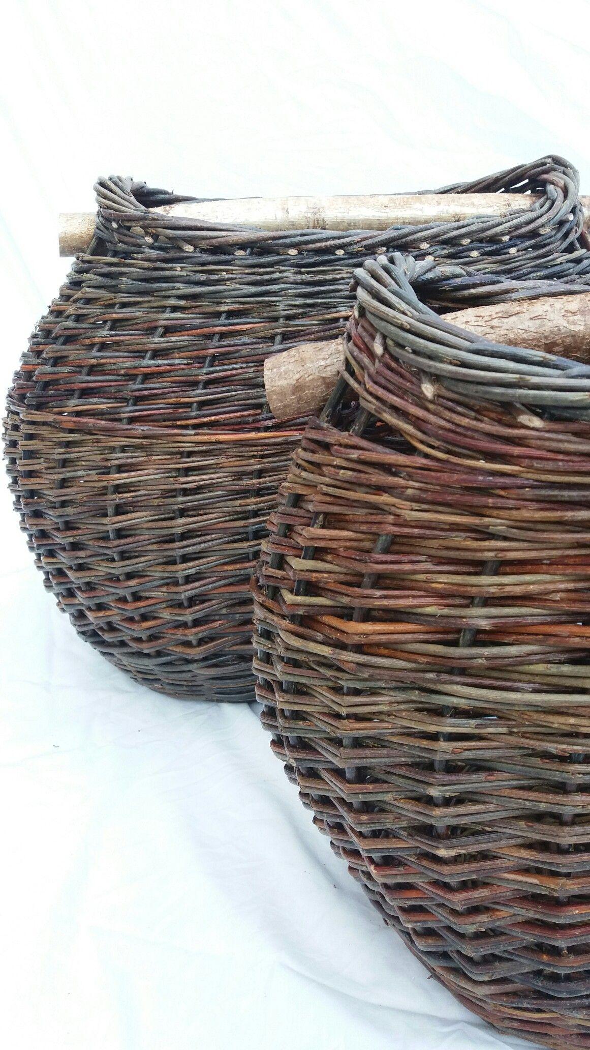 Oval Baskets With Hazel Handles By Sue Kirk Basket Wicker