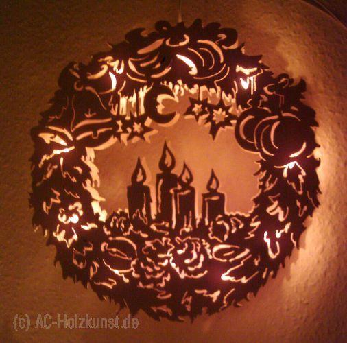 Vorlage Laubsägen Fensterbild Lichterkranz Kerzen 27cm шопка