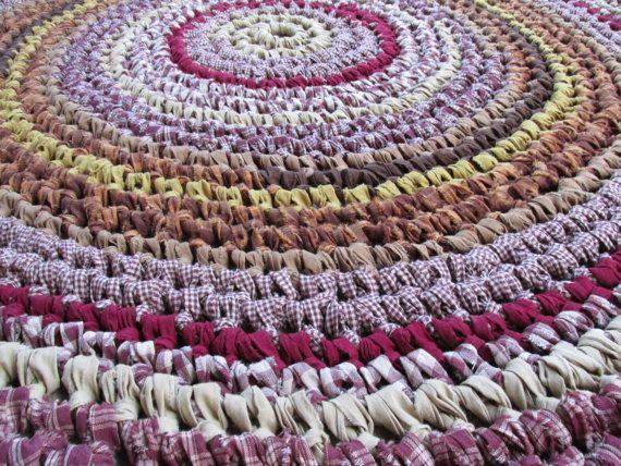 Homestead Rug Crochet 65 Rag Rug Round Cotton by CedarLaneFarm