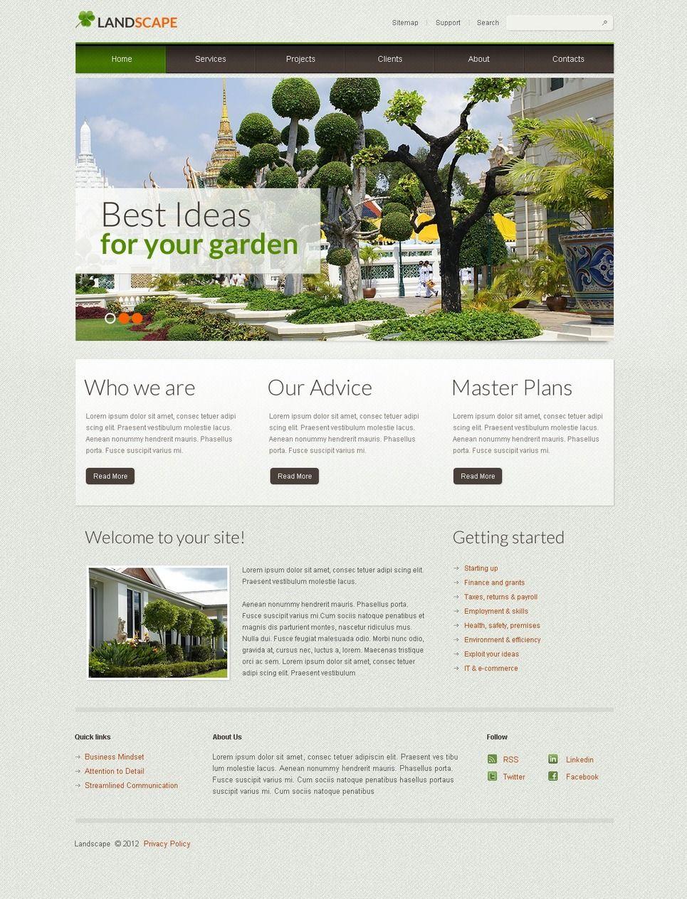 Landscape Design Facebook Html Cms Template 42021 Garden Landscape Design Landscape Design Small Garden Landscape Design