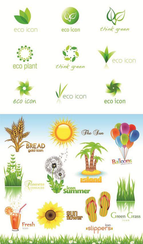 Eco & Bio - Logo Vector Set #77 EPS