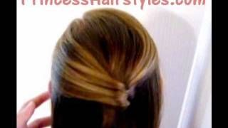 Letters To Juliet Hairstyle | Folded Half Ponytail, via YouTube.