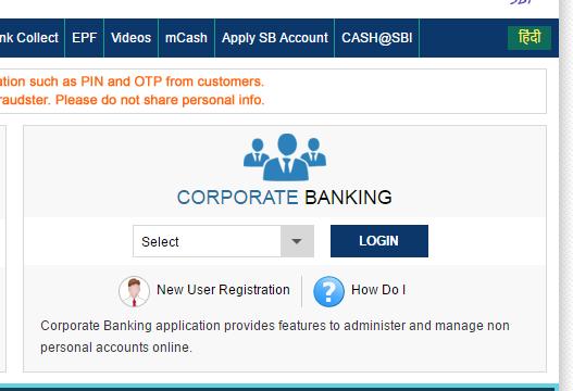 Www Onlinesbi Com Online Sbi Corporate Net Banking Services In
