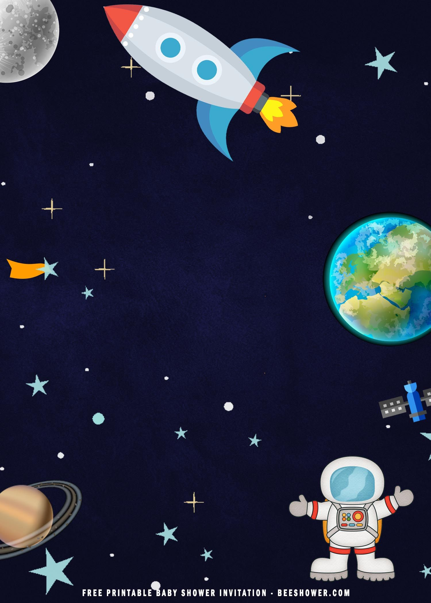 space astronaut baby shower party