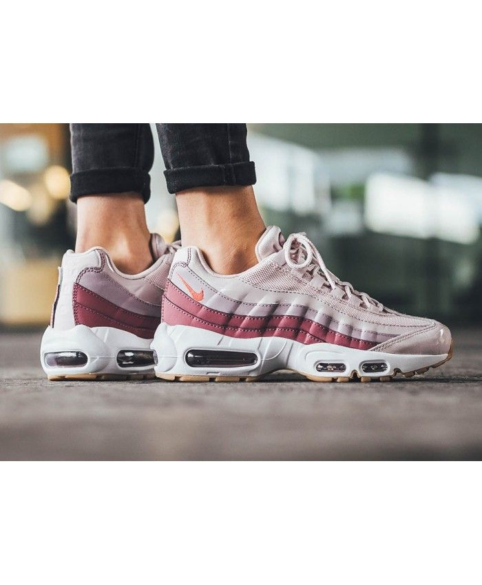 Nike Air Max 95 Trainers In Barely Rose With Hot Punch  5272b7f93