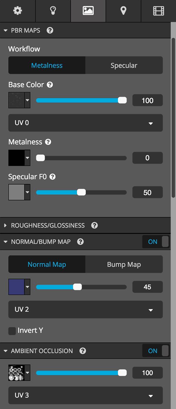 Sketchfab 3D model editor texture UV channels | Sketchfab