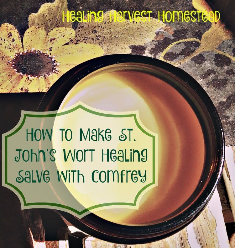 How to Make Herbal Healing Salve: St. Johns Wort, Plantain, & Comfrey Herbs