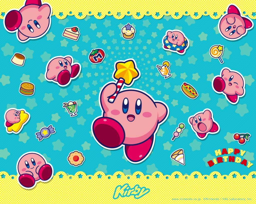New 25th Anniversary Kirby wallpapers available from