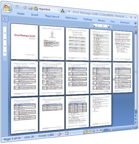 Error Message Guide Template \u2013 MS Word download IP-MACHINE