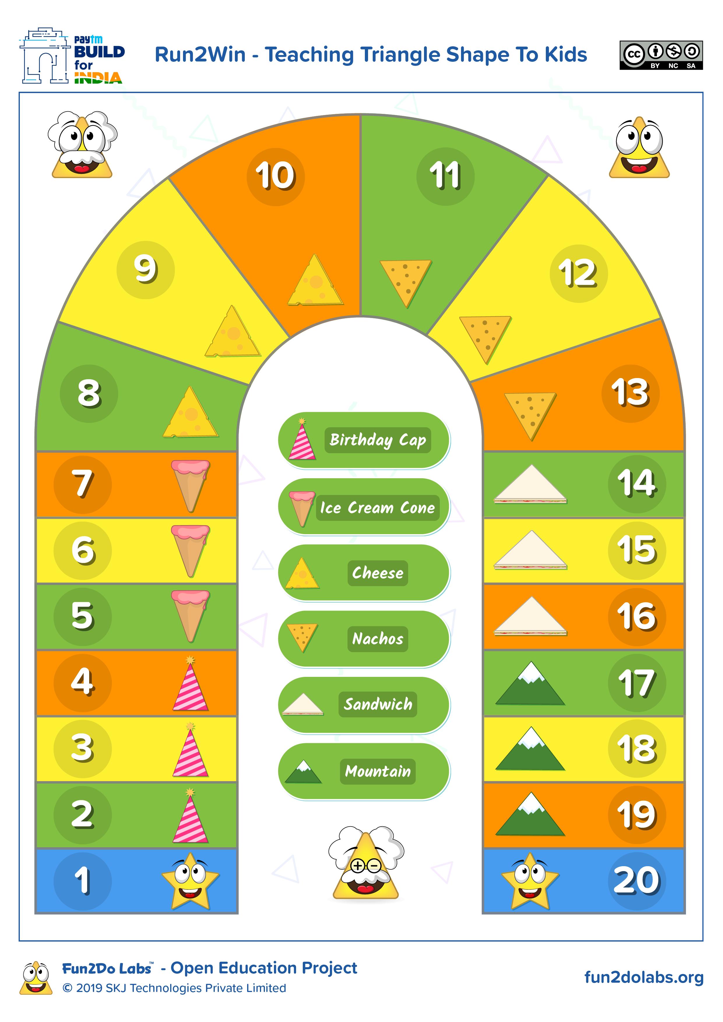 Teaching Triangle Shape To Kids In Preschool Using The