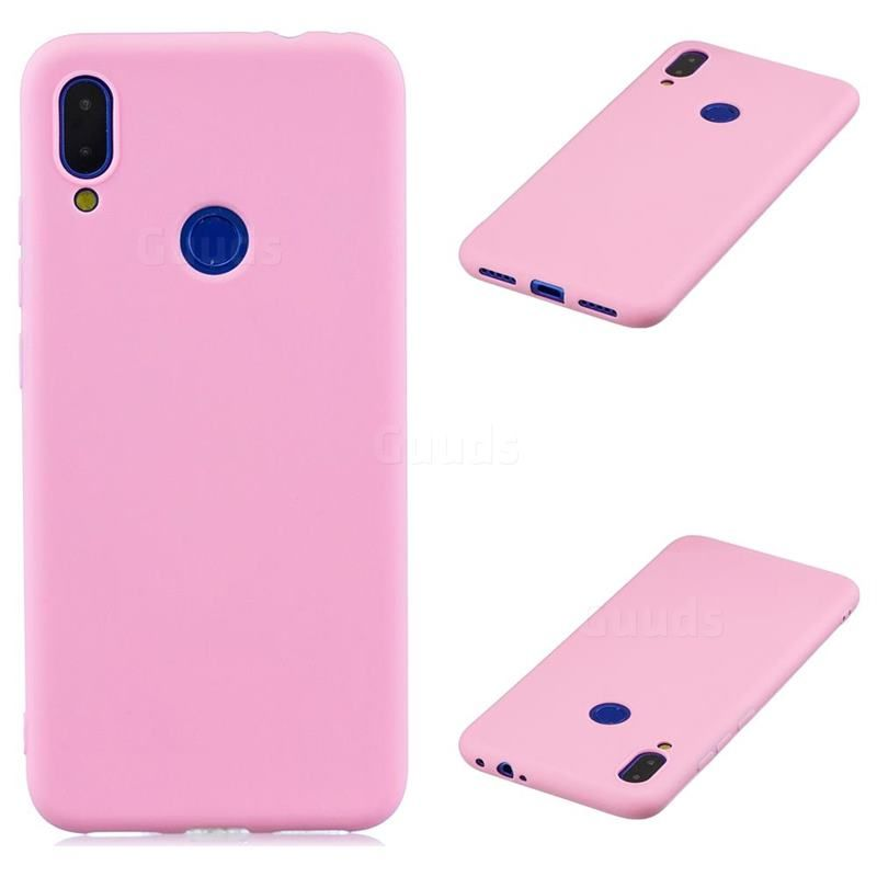 Candy Soft Silicone Protective Phone Case For Xiaomi Mi Redmi Note 7 Note 7 Pro Dark Pink Guuds Com Who Phone Cases Protective Phone Cases Phone Case Cover