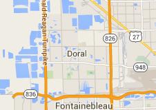 Doral Florida Map on