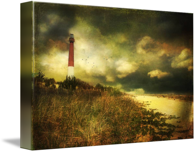"""""""Storm at Barnegat Lighthouse"""" by John Rivera, Berlin, New Jersey // Barnegat lighthouse at Barnegat Light, New Jersey // Imagekind.com -- Buy stunning fine art prints, framed prints and canvas prints directly from independent working artists and photographers."""