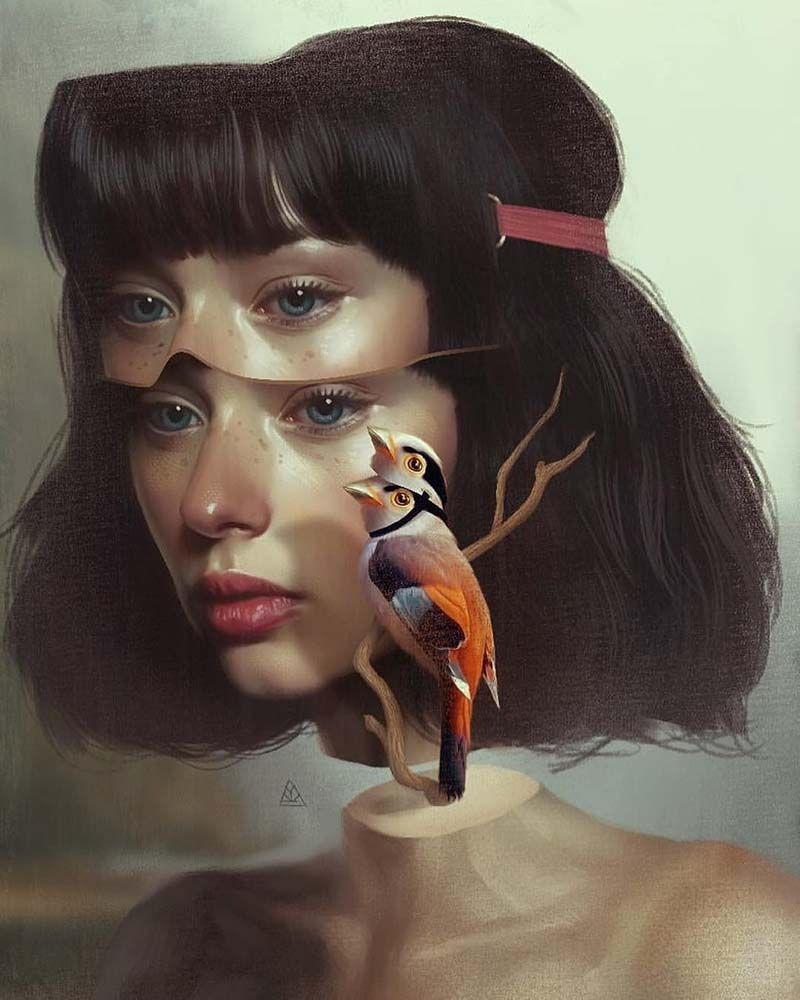 Картинка в стиле сюрреализм