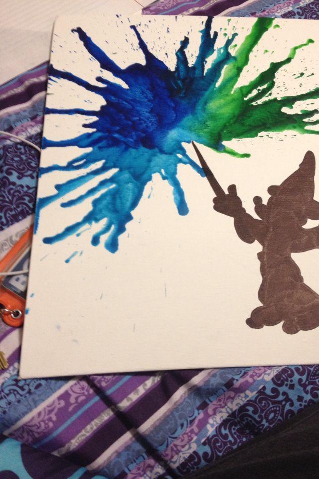 DIY Melted Crayon Art Mickey Disney