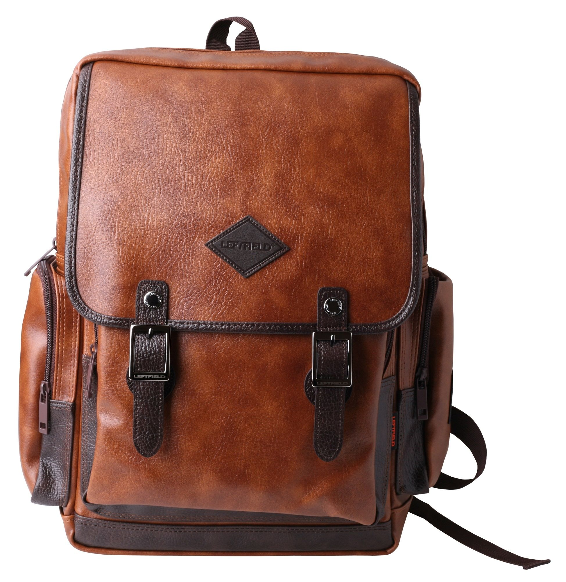 5225b7997a Korean casual fashion backpacks for men and women. Vintage faux leather  laptop backpacks