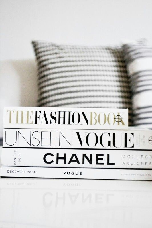 Vogue. Chanel. Fashion. Don't they all just naturally go hand in hand? On a side note, excellent idea for coffee table design  decor. xx Dressed to Death xx #fashion #books #love