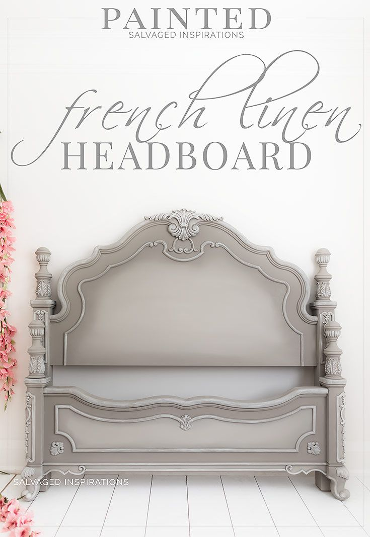 French Linen Painted Headboard is part of Painted headboard, Furniture, Painting furniture diy, Headboard makeover, Linen headboard, French linen - A GORGEOUS FRENCH LINEN DIY PAINTED HEADBOARD USING A MATCH MADE IN HEAVEN COLOR COMBO  Hi SI family! I'm not sure if you've ever encountered a takeover of painted furniture in your home, but I sure have  This has been a summer of cleaning out my inventory which brings me to the last piece of this bedroom set  the headboard! If you'd like to check out how all the other makeovers in this set turned out, I'll include the links in the RELATED POST below  Here's a closer look at what I started with    I purchased this bedroom set
