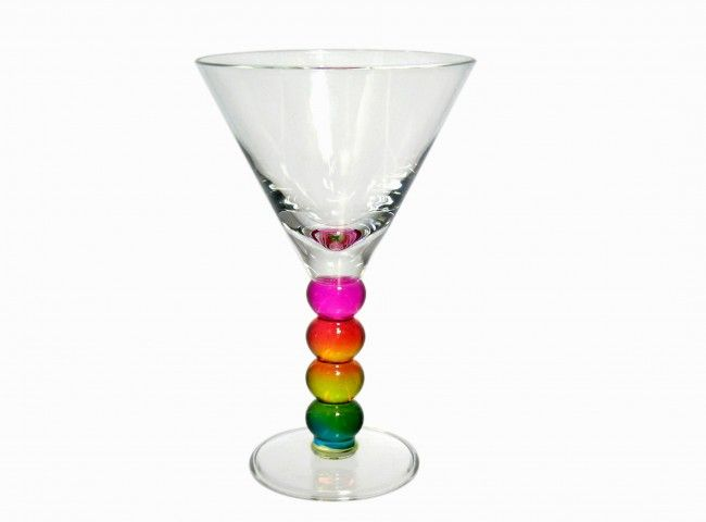 ACRYLIC MARTINI GLASS WITH COLOURFUL BALLS. Shop online at Candylicious! International shipping available. Wine | Food | Rainbow | Party | Candy