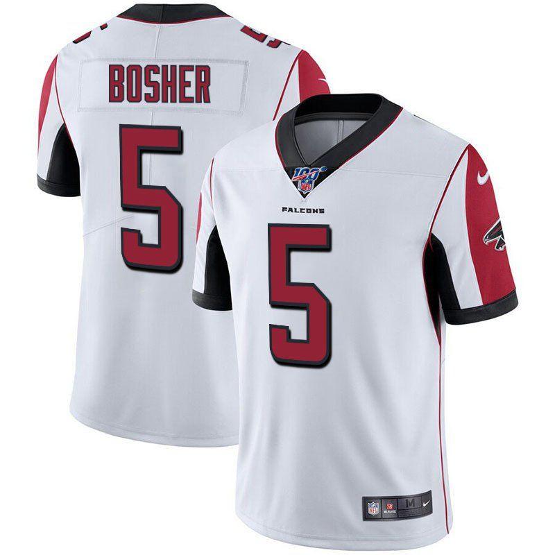 Men's Atlanta Falcons #5 Matt Bosher White 100th Season Limited ...