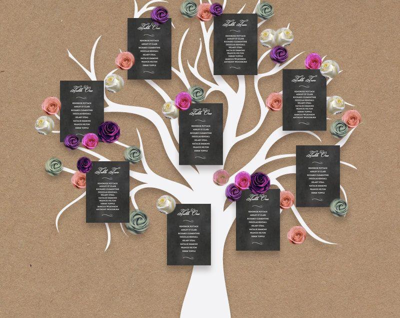 Wedding Tree Table Plan Printable Tree Seating Plan, A0, A1, 24x36 ...