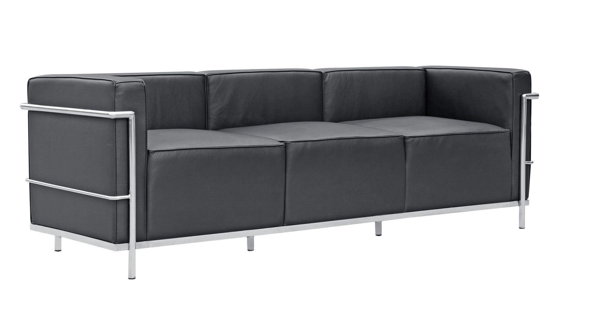 Le Corbusier Lc3 Style Leather Sofa Black Best Leather Sofa Leather Sofa Sofa