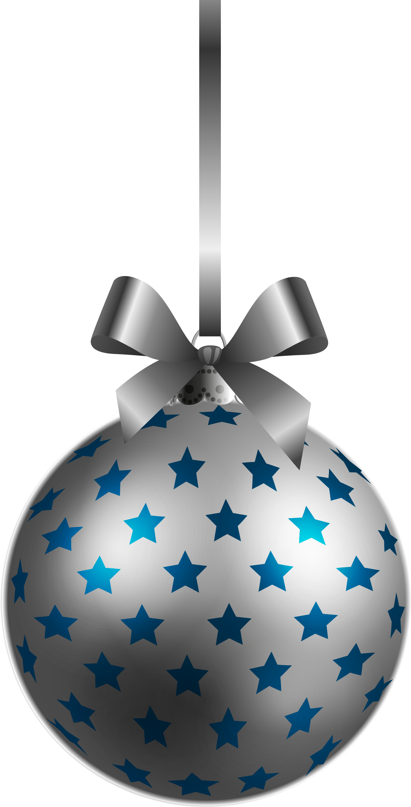 Large xmas ornaments - Large Transparent Bluesilver Christmas Ball Ornament Png Clipart