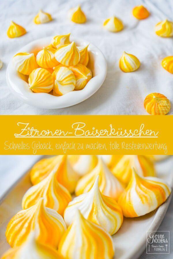 Rezept: Zitronen-Baiserküsschen oder Lemon Meringue - gernekochen.de