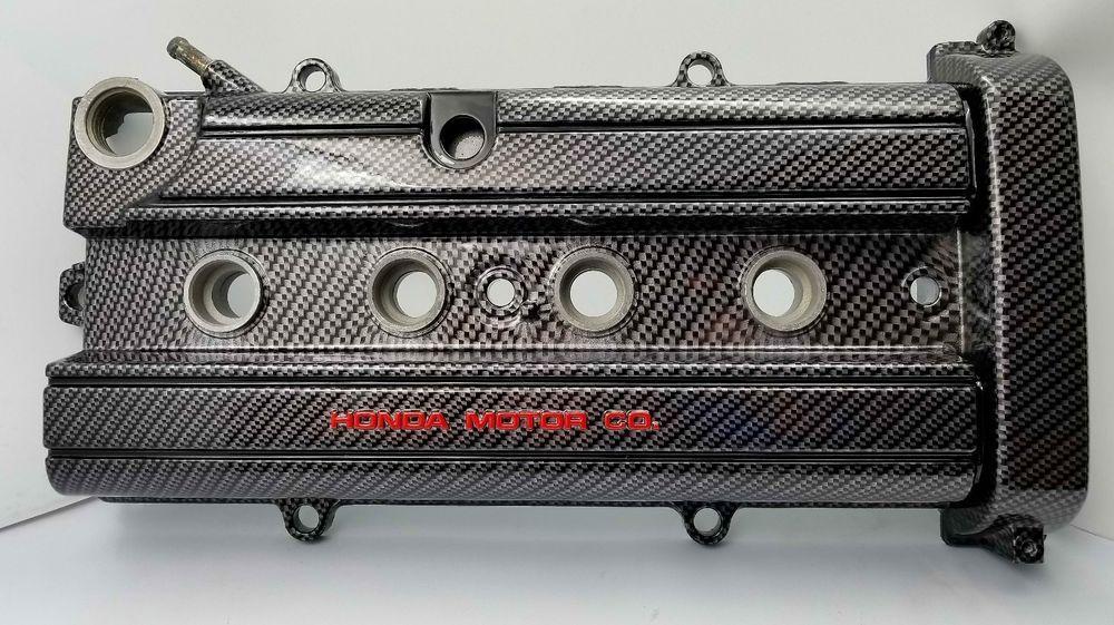 honda civic , crv valve cover B20 custom hydro dipped, carbon fiber