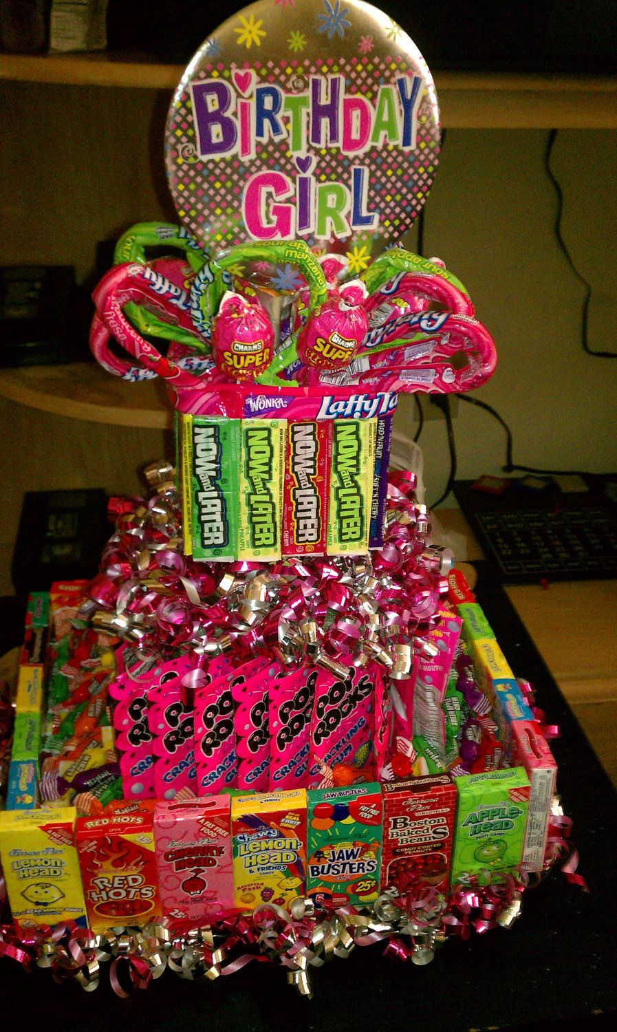 Tower of Candy... This is a good idea for those hard to ...