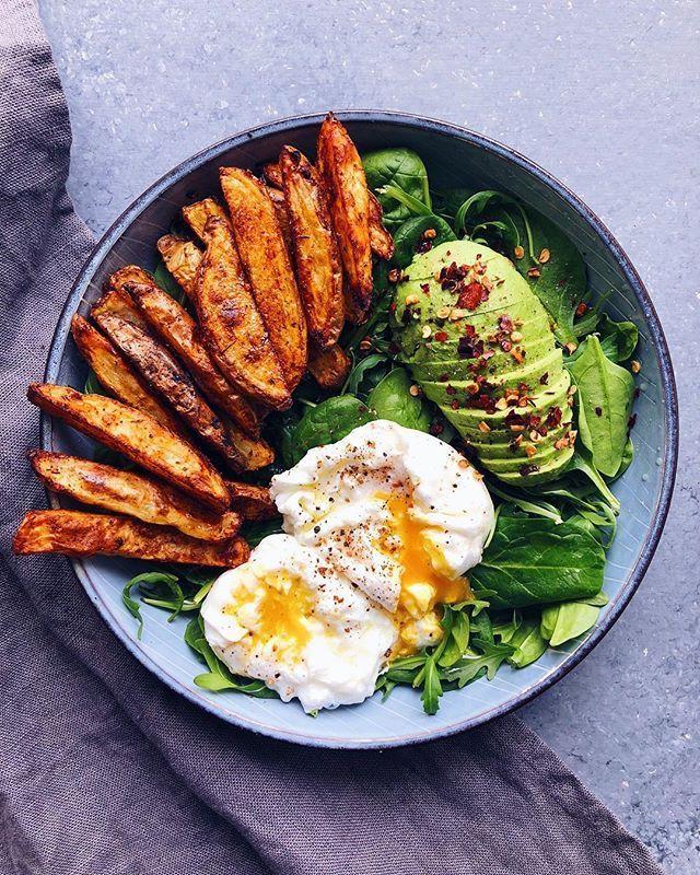 25 + › Dieses Rezept für Rucola, Babyspinat, Kartoffeln und pochierte Eier ist im … #sweetpotatorecipes