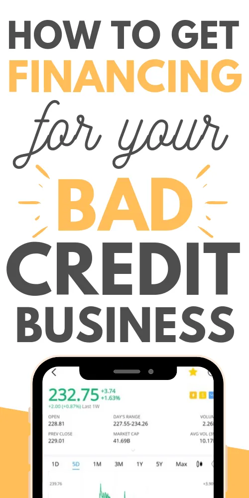 How To Get Financing For Your Bad Credit Business In 2020 Loans For Bad Credit Bad Credit No Credit Loans