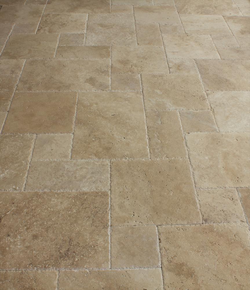 BuildDirect®: Travertine Tile Antique Pattern Travertine Tile Meandros Walnut Standard